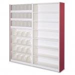 4-post-case-shelving- compact library storage