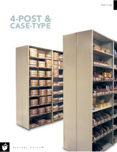 Metal shelving units can be mounted on rails to create compact storage systems for libraries, warehouses, and more.