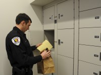 Evidence Storage Shelving in Secure Evidence Storage System