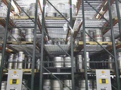 Mobile Pallet Storage for Beer Keg Storage