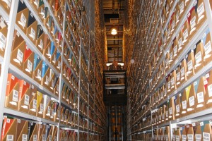 Mobile Industrial Shelving for Archival Book Storage