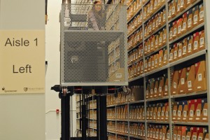 Offsite Archival Storage on Mobile Industrial Shelving
