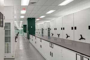 Museum Grade Cabinets on Mobile Shelving at Yale University