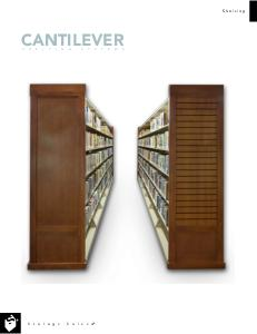 cantilevered shelving for library and museum storage - boston - cambridge - MA - mass