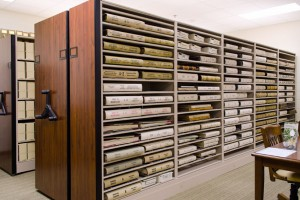 County Records Storage on Mobile Shelving System
