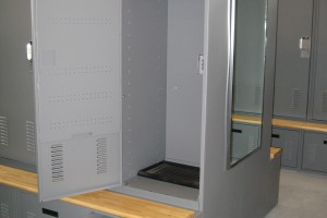 Customizable Personal Storage Locker for Public Safety Storage