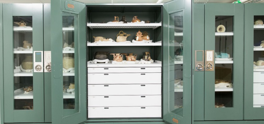 Museum grade cabinets, gallery storage, museum storage, mobile cabinets on rails