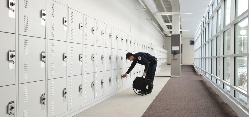 Gear Bag Lockers as part of Public Safety Storage Systems