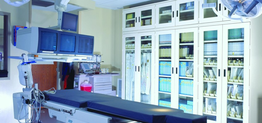 Healthcare Sterile Storage Cabinets in Operating Room