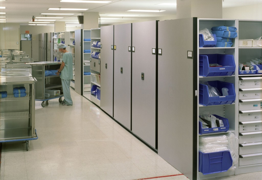 Healthcare Sterile Storage On Mobile Shelving System