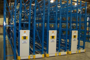 High-Density Mobile Warehouse Shelving