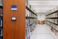 library-shelving-touchscreen-mobile-shelving- compact library storage