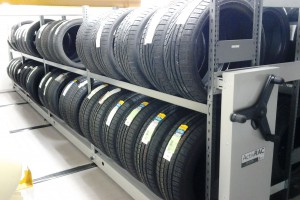 Mobile Industrial Shelving for Tire Storage