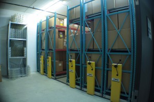 Mobile Industrial Storage for Warehouse Shelving