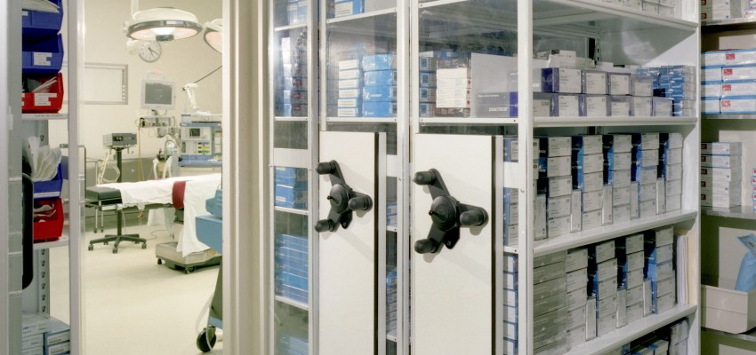 Mobile Shelving System with Healthcare Sterile Storage Supplies Healthcare Sterile Storage