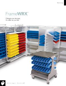 plastic bins, modular storage system, healthcare supply storage, IT equipment storage