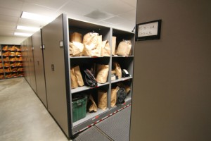Property and Evidence Storage on Mobile Shelving System