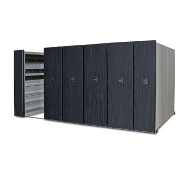 electronic shelves that move, moving shelves, mobile storage