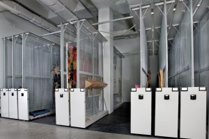 Art Storage Racks on Mobile Shelving System for Fine Art Museum Storage