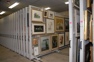 Art Storage Racks on Mobile Shelving