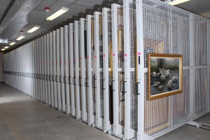 Mobile Art Storage Racks for Fine Art Museum Storage