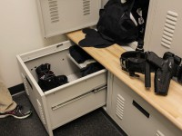 Drawer Storage Compartment on Custom Police Lockers