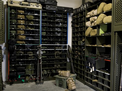 Military Equipment Storage Room with Compact Storage Systems