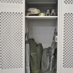 Military Gear Locker at North Carolina National Guard