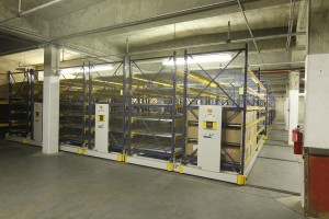 Mobile Shelving System for Military Equipment Storage System