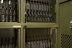 Weapons Rack Shelving for Military Equipment Storage