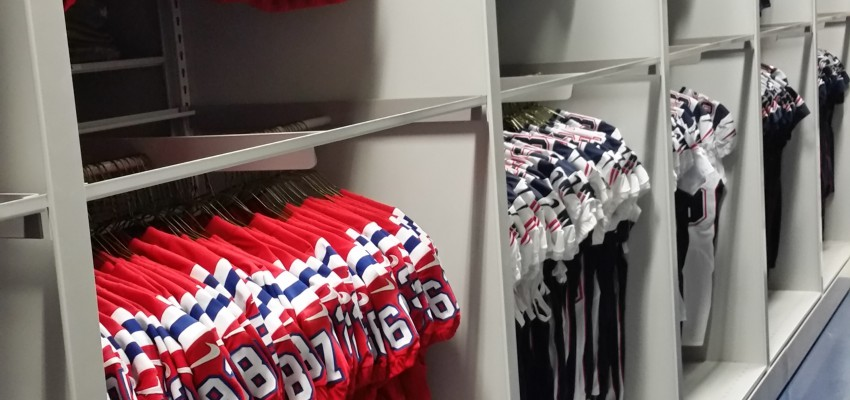 New England Patriots equipment room