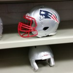 Athletic equipment storage - football team - New England Patriots equipment room