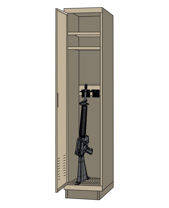 Fast Response Locker with weapon in it