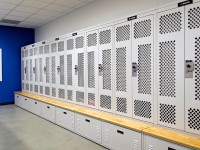 Gear bag lockers at Franklin Police Department