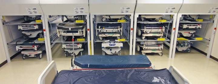 Hospital Bed Storage | Donnegan Systems Inc