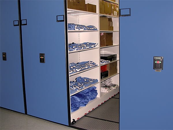 low profile mobile shelving 3